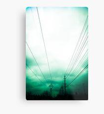 Power Clouds Metal Print