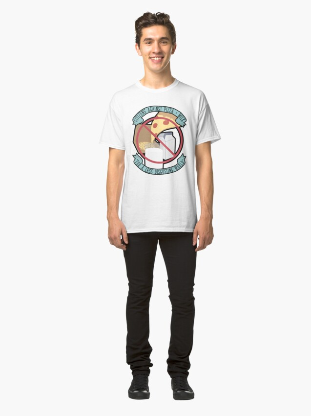 Alternate view of Don't Dip Your Pizza In Milk Classic T-Shirt