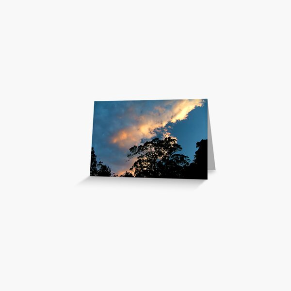 Clouds above the trees Greeting Card