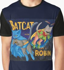 """BatCat"" and ""I ate a Robin"" Graphic T-Shirt"