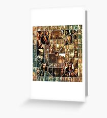 The Vampire Diaries - Petrova Doppelganger Collage Greeting Card
