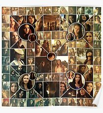 The Vampire Diaries - Petrova Doppelganger Collage Poster