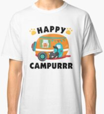 Happy Campurrr Camping With Cats Fur Babies Classic T-Shirt