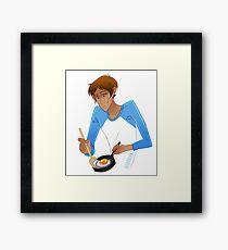 Lance Cooking Framed Print