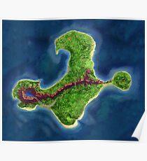 Monkey Island map Poster
