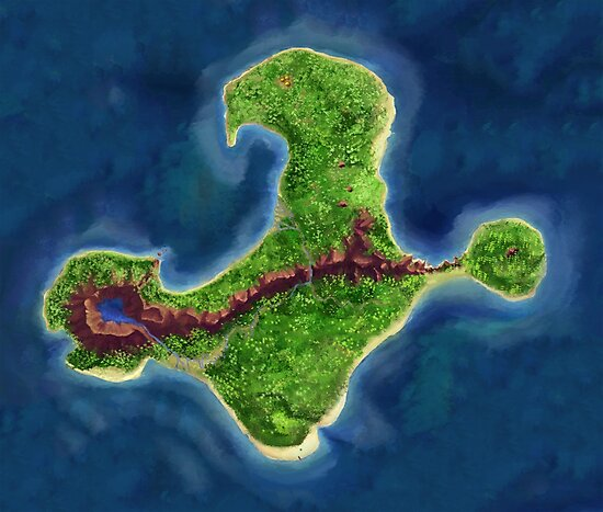 Monkey Island map by DucktuR