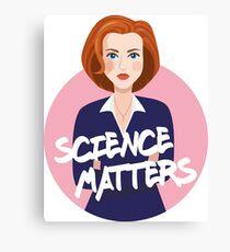 The X-Files Dana Scully Canvas Print