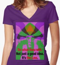 Thelema -- IT'S THE LAW Women's Fitted V-Neck T-Shirt