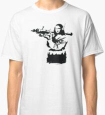banksy mona lisa bazooka Classic T-Shirt
