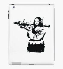 banksy mona lisa bazooka iPad Case/Skin