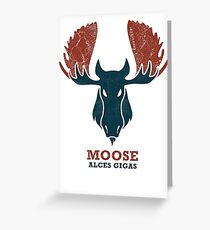Alaskan Moose - Alces Gigas Greeting Card