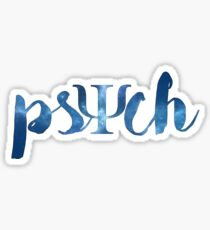 psychology (made for paige <3 ) Sticker
