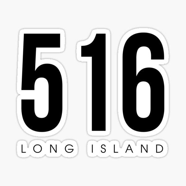 Long Island, New York - 516 Area Code Sticker