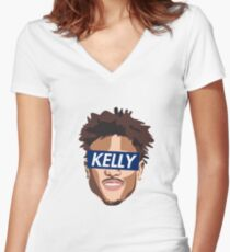 SUP-KELLY OUBRE JR (1) BLUE Women's Fitted V-Neck T-Shirt