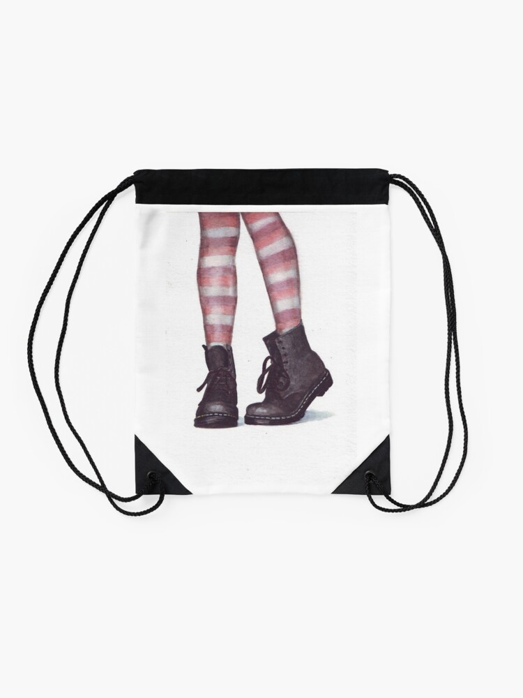 Alternate view of Dr Martens boots by Helga McLeod Drawstring Bag