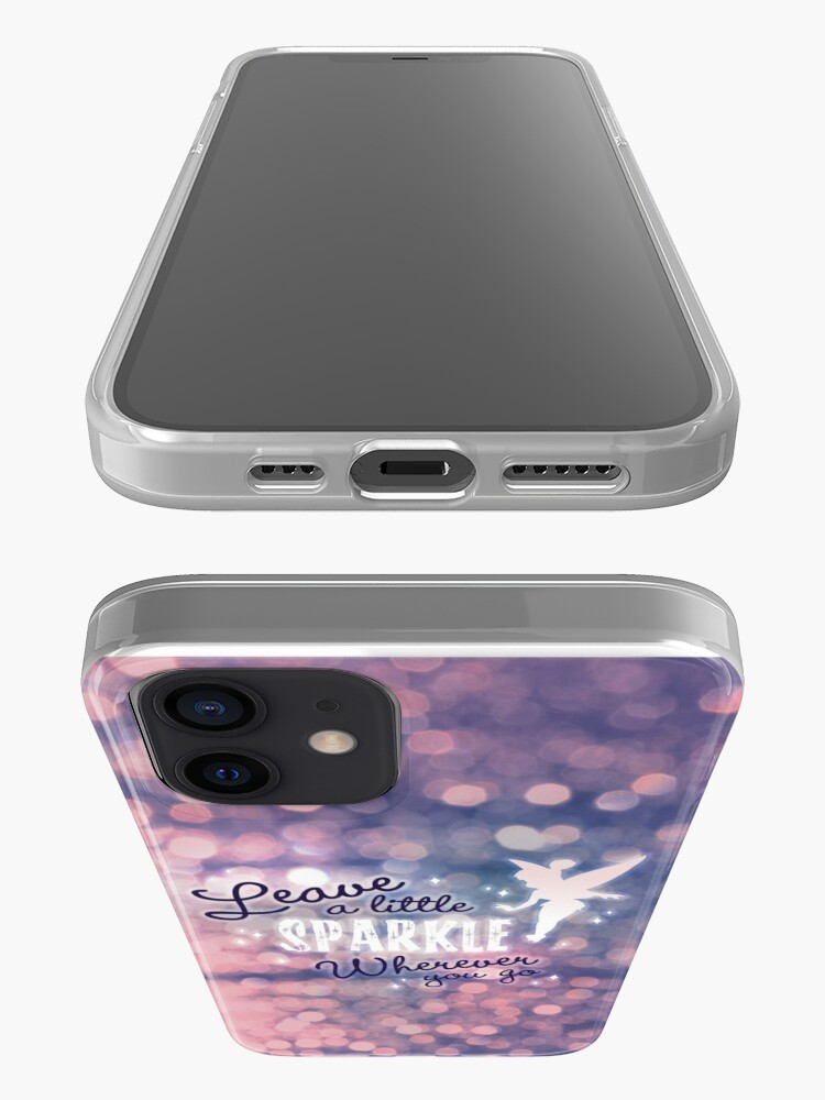Alternate view of Leave a Little Sparkle Wherever You Go iPhone Case & Cover