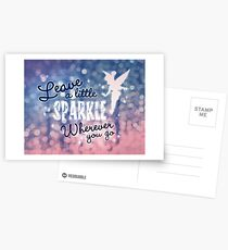 Leave a Little Sparkle Wherever You Go Postcards