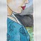 coloured Geishia by Leanne Inwood