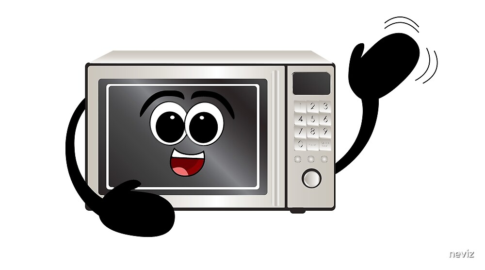 Quot Waving Microwave Quot By Neviz Redbubble