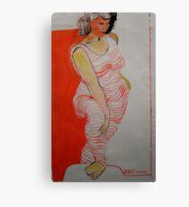 Orange hoops Canvas Print