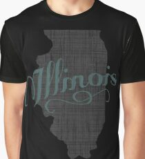 Illinois State Typography Graphic T-Shirt