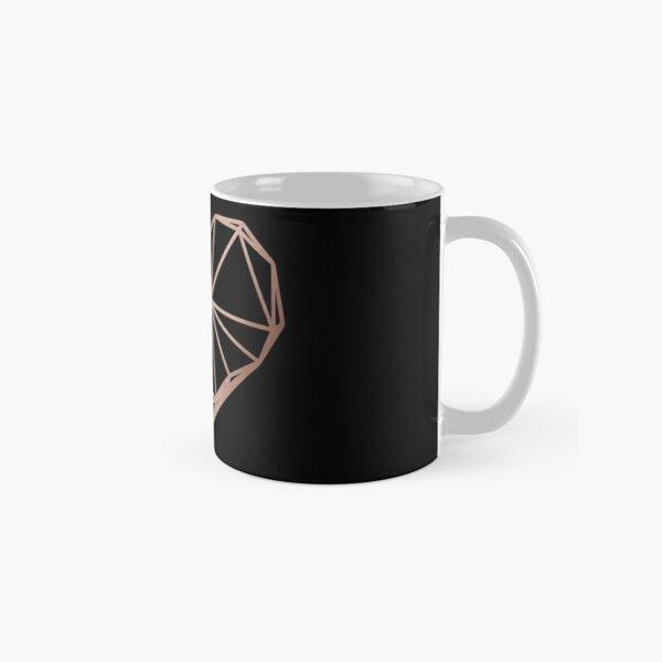 Rose Gold Geometric Heart Classic Mug
