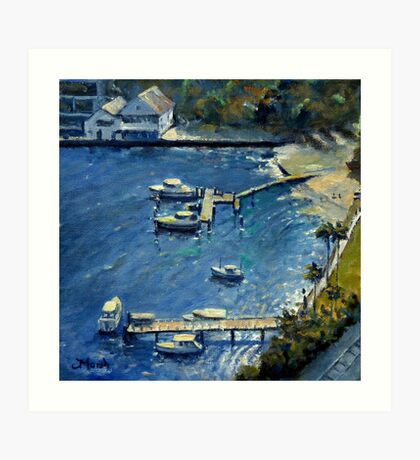 Deep Blue Lavender Bay, Sydney Harbour Art Print