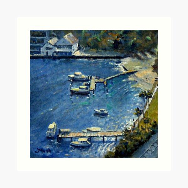 Deep Blue Lavender Bay, Sydney Harbour Art Print