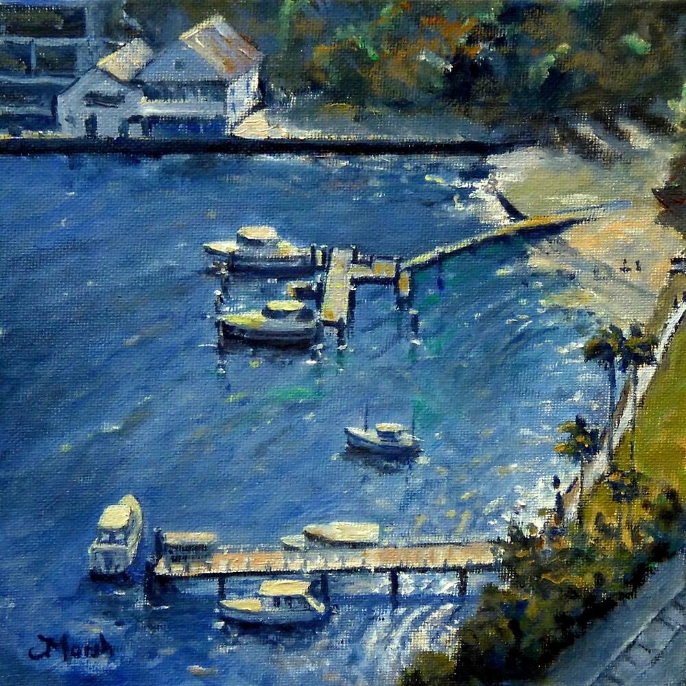 Deep Blue Lavender Bay, Sydney Harbour by Fred Marsh
