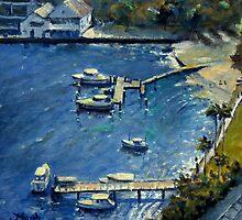 Deep Blue Lavender Bay, Sydney Harbour by marshstudio