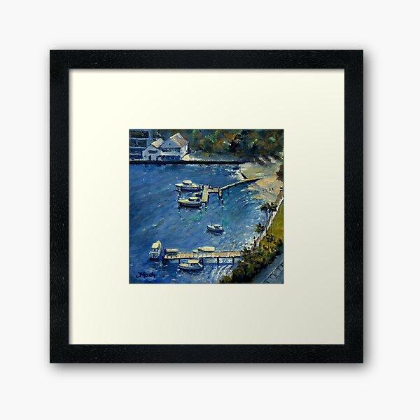 Deep Blue Lavender Bay, Sydney Harbour Framed Art Print