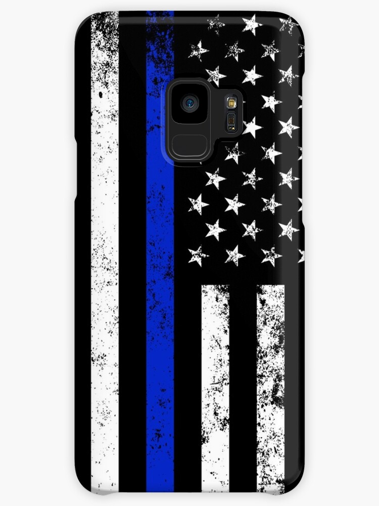 police styled distressed vertical american flag cases skins for