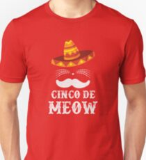 Funny Cat Cinco de mayo - Cinco de meow T-Shirt Unisex T-Shirt
