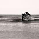derricks buoy sunset by Michael Mancini
