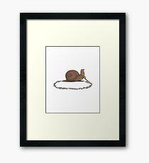 clever snail Framed Print