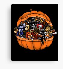 Horror Movie Mashup (Halloween) case/phone/shirts Canvas Print