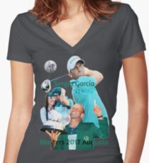 Sergio García wins Masters 2017 Women's Fitted V-Neck T-Shirt