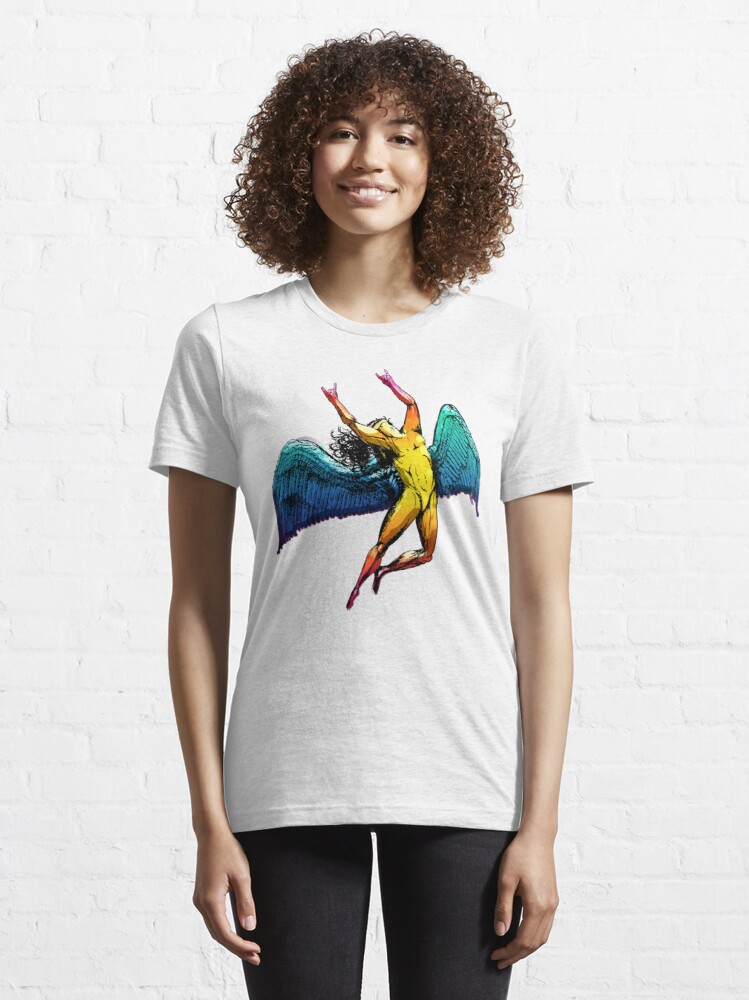 Alternate view of ICARUS THROWS THE HORNS - shiny ***FAV ICARUS GONE? SEE BELOW*** Essential T-Shirt