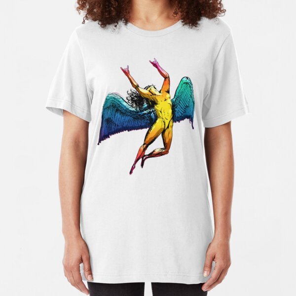 ICARUS THROWS THE HORNS - shiny ***FAV ICARUS GONE? SEE BELOW*** Slim Fit T-Shirt