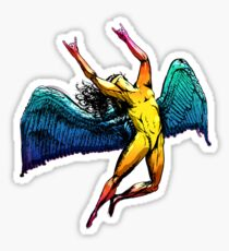 ICARUS THROWS THE HORNS - shiny ***FAV ICARUS GONE? SEE BELOW*** Sticker