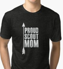 Proud Scout Mom - Parent Father of Boy Girl Club Tri-blend T-Shirt