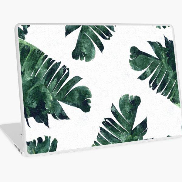 Banana Leaf #Watercolor Pattern #redbubble Laptop Skin