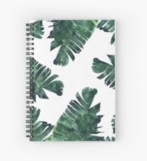 Banana Leaf #Watercolor Pattern #redbubble Spiral Notebook