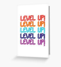 Fun Computer Game Message Level Up! Greeting Card