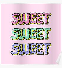 Sweet Donuts Pastel Poster