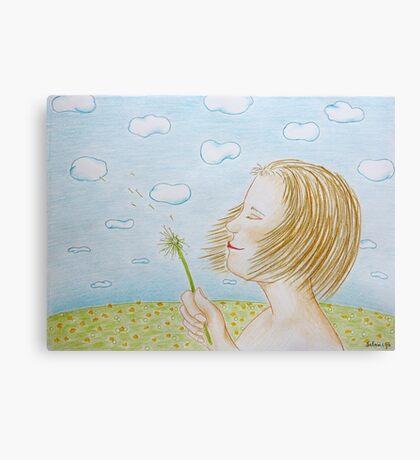 A dandelion Canvas Print