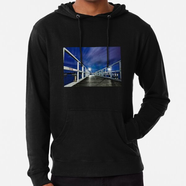 Old Wooden Jetty, Hastings River Lightweight Hoodie