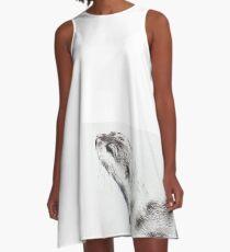 Short Clawed Asian Otter Study 1_1 A-Line Dress
