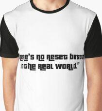 No Reset Button Graphic T-Shirt