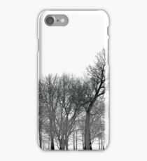 Abstract tree pattern in black iPhone Case/Skin